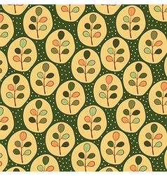 Floral leaves pattern vector