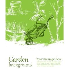 Garden background vector image