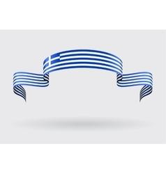 Greek flag background vector image