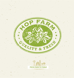 Green hop organic farming design element on vector