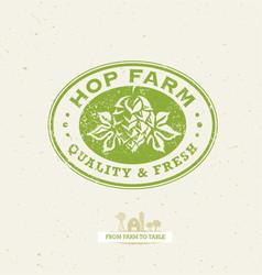 green hop organic farming design element on vector image