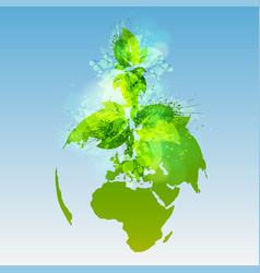 Green world vector