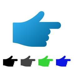 Hand index pointer flat gradient icon vector