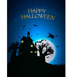 Happy halloween template vector