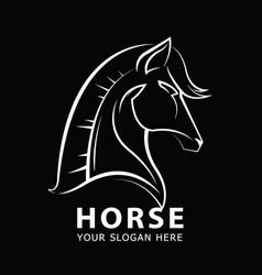 horses head logo design template vector image