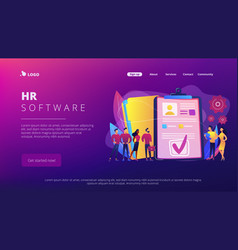 Hr software concept landing page vector