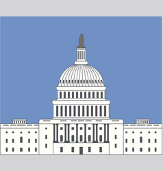 icon united states capitol hill building vector image