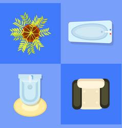 Indoor furniture icons set vector