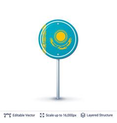 Kazakhstan flag isolated on white vector