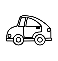 Kids toy car transport plastic icon thick line vector