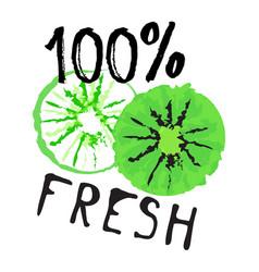 Kiwi fruit label and sticker - 100 fresh vector
