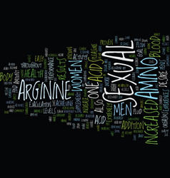 L arginine the latest miracle text background vector