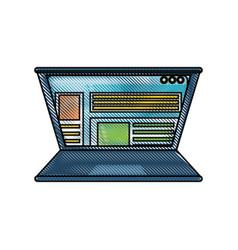 laptop computer design concept vector image
