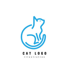 logotype cat vector image