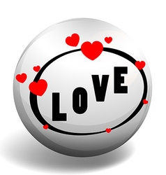 Love design on round badge vector image