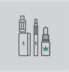 marijuana cannabis liquid for vaping vector image