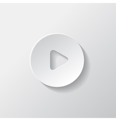Media play icon Start symbol vector image