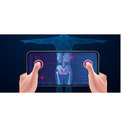 medical examination scanning with a mobile vector image
