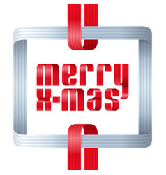 merry christmas celebration typography background vector image