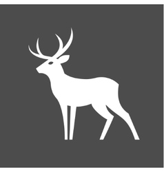 Monochrome deer with antlers vector