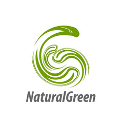 natural green abstract initial letter g logo vector image