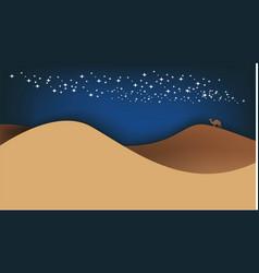 Night in desert vector