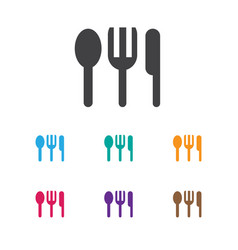 of travel symbol on silverware vector image
