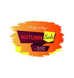 only today autumn sale -35 vector image