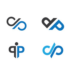 p letter logo template vector image