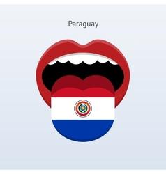 Paraguay language Abstract human tongue vector