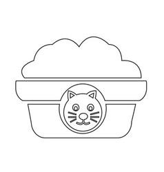 pet cat food icon vector image
