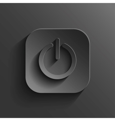 Power icon - black app button vector image