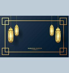 Ramadan kareem arabic calligraphy background vector