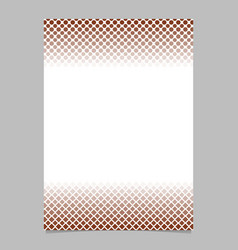 retro halftone pattern brochure template - cover vector image