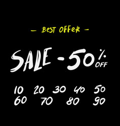 sale banner super discounts sale arrow tag icons vector image