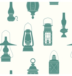 Seamless pattern with lanterns vector