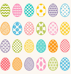 set colorful eggs for easter vector image