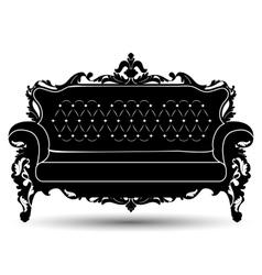 Silhouette of sofa vector