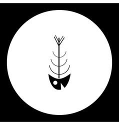Simple black fish bones skeleton icon eps10 vector