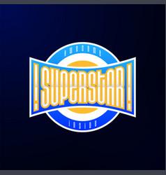 sport emblem typography super star hero logotype vector image