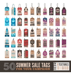 Summer sale tags vector
