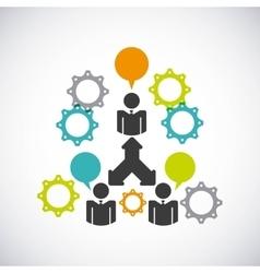 Teamwork business design vector
