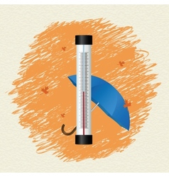 Thermometer by seasons Autumn vector