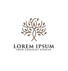 tree luxury logo design concept template vector image