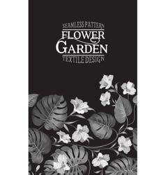 Vertical flower garden card vector