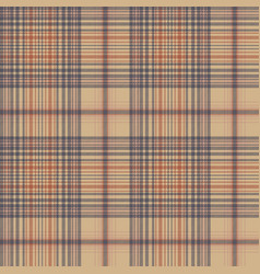 Vintage check fabric texture plaid seamless vector