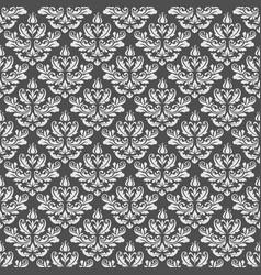 Vintage damask pattern in neutral color vector