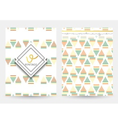 Vintage page with geometric patterns Cover retro vector image