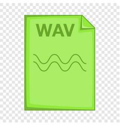 Wav file icon cartoon style vector