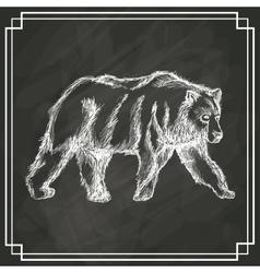 White bear sketch dark background vector